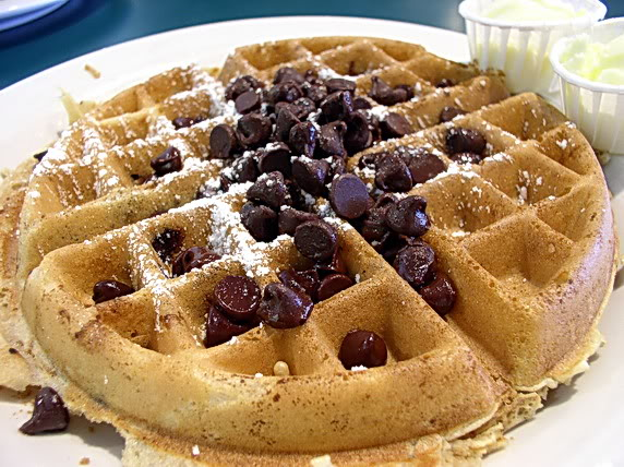 Waffle with chocolate chips